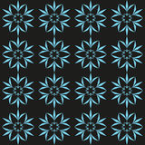 Cyan flower seamless pattern Royalty Free Stock Images