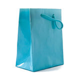 Cyan gift box Stock Photography