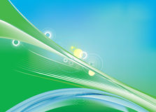 Blue and green Spring background abstract Royalty Free Stock Photos