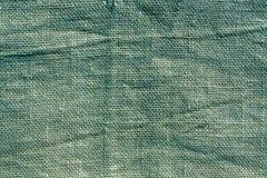 Cyan hessian sack cloth texture. Royalty Free Stock Photography
