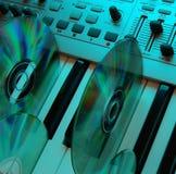 cyan home studio för musik 2 fotografering för bildbyråer