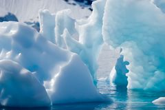 Cyan icebergs. Sharp and soft cyan icebergs Stock Images