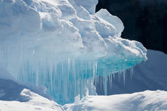 Cyan icicles Stock Images