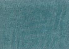 Cyan koloru drelichowa tekstylna tekstura Obraz Royalty Free