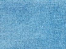 Cyan koloru drelichowa tekstylna tekstura Fotografia Royalty Free