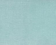 Cyan kulör naturlig textiltextur Royaltyfri Fotografi