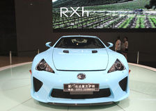 Cyan lexus lfa car Stock Photography