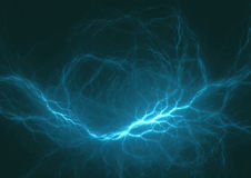 Cyan lightning. Abstract electrical background stock illustration