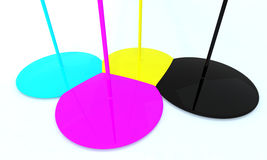 Cyan magenta yellow black Royalty Free Stock Photo
