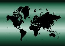 Cyan map of the world Royalty Free Stock Photography