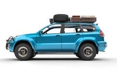Cyan moderna SUV Arkivbild