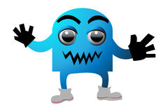 Cyan monster Stock Images
