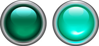 Cyan on and off buttons - vector Royalty Free Stock Photo
