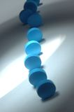 Cyan pills Royalty Free Stock Images