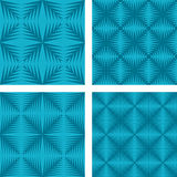 Cyan seamless background set Stock Photos
