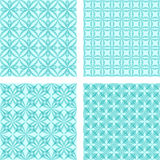 Cyan seamless pattern background set. Cyan seamless curved line pattern background set vector illustration