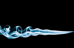 Cyan Smoke Trails Royalty Free Stock Image