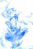 Cyan smoke on white background Royalty Free Stock Photos