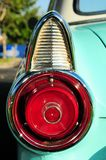 Cyan sports car left tail light Stock Photo
