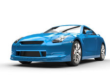 Cyan Sports Car on White Background Royalty Free Stock Photo