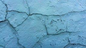 Cyan sprucken vägg Fotografering för Bildbyråer