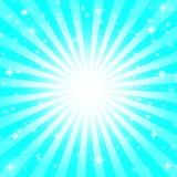 Cyan sunburst Стоковые Фото