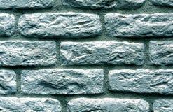 Cyan toned brick wall surface. Stock Photography
