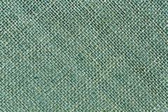 Cyan toned hessian sack cloth texture. Stock Photography