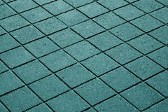 cyan toned pavement surface. Royalty Free Stock Photos