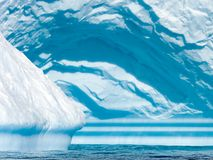 Cyan triangle. Detail of a cyan iceberg in triangular shape royalty free stock photos