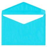 Cyan vintage envelope isolated on white Royalty Free Stock Photo
