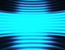 Cyan virtual reality chamber background Stock Photo