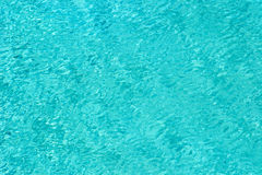 Cyan water abstract background. From water surface in swimming pool Stock Photography