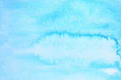 Cyan watercolor background Stock Image