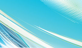 Blue wave halftone line background Stock Photos