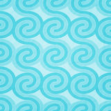 Cyan waves Royalty Free Stock Images