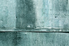 Cyan weathered metal sheet texture. Abstract background and texture for design Royalty Free Stock Photos