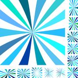 Cyan white ray burst background set Stock Images