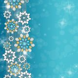 Cyan winter background Royalty Free Stock Photo