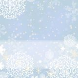 Cyan winter background Stock Photography