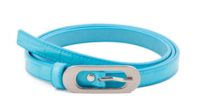 Cyan woman belt on white background Royalty Free Stock Images