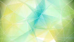 Cyan and yellow triangles pattern stock illustration