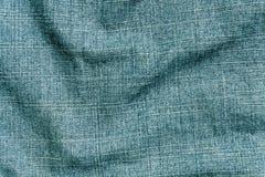 Cyan yttersida för torkduk för färggrov bomullstvilltextil Arkivfoto