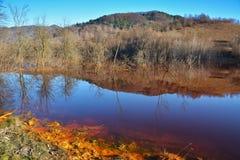 Cyanid sjö på Geamana Rumänien Fotografering för Bildbyråer