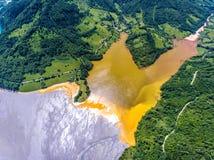 Cyanide pollution at Geamana Lake near Rosia Montana Stock Photography