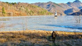 Cyanide See bei Geamana Rumänien Lizenzfreie Stockbilder