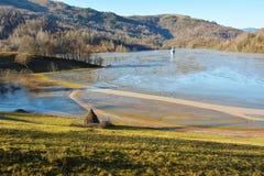 Cyanidemeer in Geamana Roemenië Royalty-vrije Stock Foto's