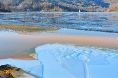Cyanidemeer in Geamana Roemenië Stock Foto's