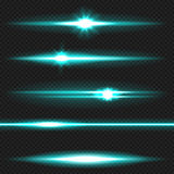 Cyanl aser射线组装 库存图片