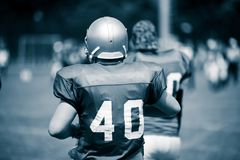 American football players in action Royalty Free Stock Image
